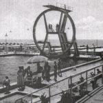 Trampolino e piscina dello stabilimento Kursaal, 10.8.1955