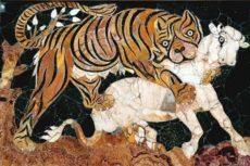 Pannello lavorato ad intarsio di marmi colorati -Musei Capitolini