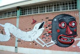 Murales al mercato dell