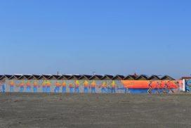 Murales in spiaggia - foto di Fedrica Sequi