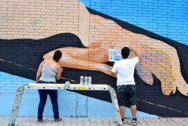 Murales al mercato dell'Appagliatore  - foto di Federica Sequi