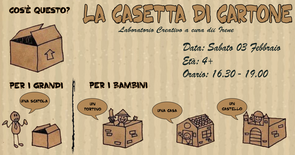 La casetta di cartone alla libreria cinquestorie roma marittima - Casa di cartone ...