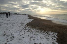 Mare di Ostia neve 2012