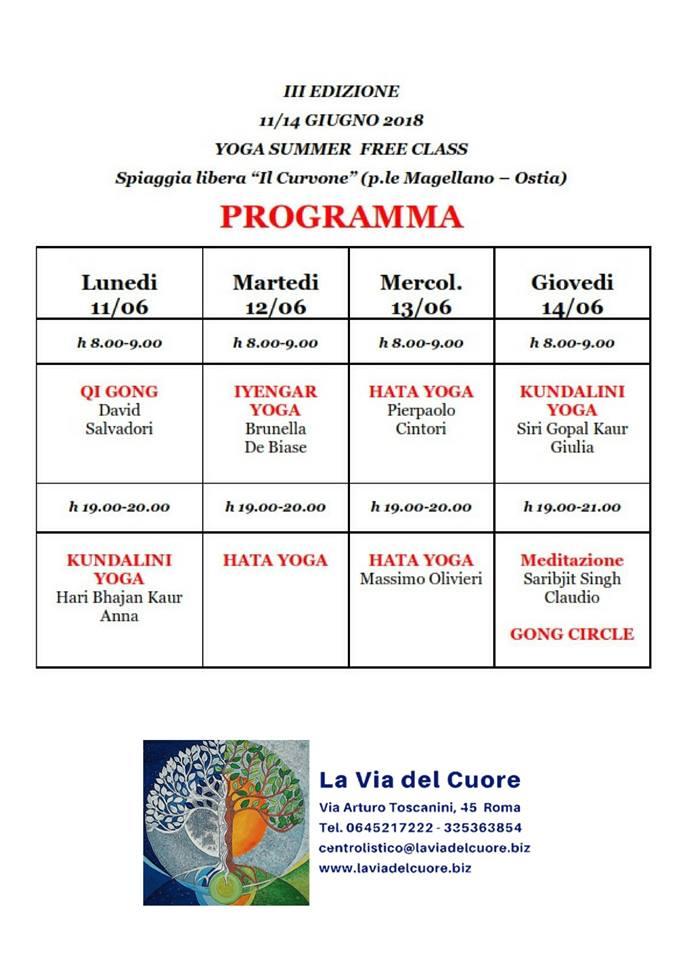 Yoga summer free class al curvone di ostia roma marittima for Programma arredamenti ostia